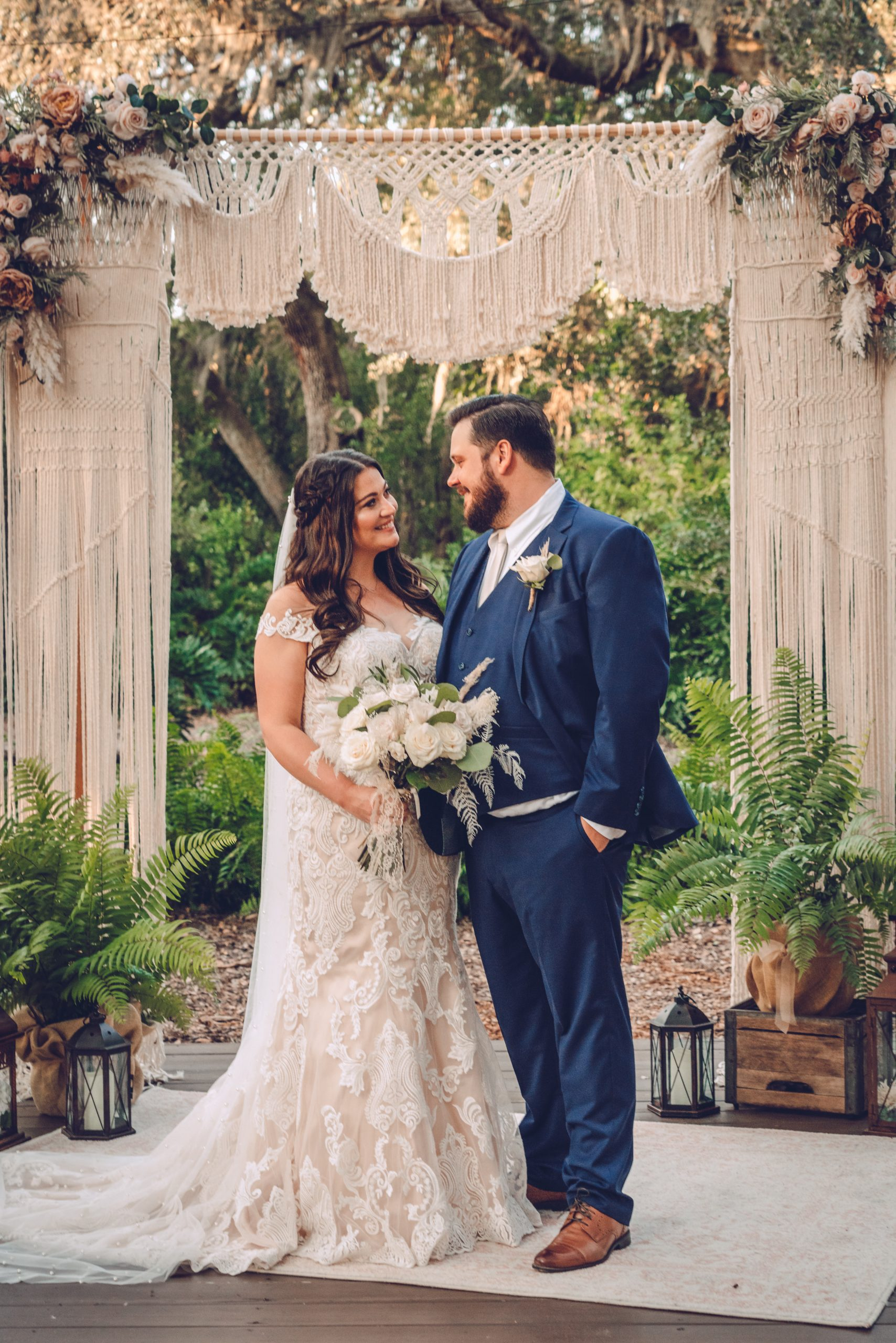 Tiffany + Nick's Boho Garden Micro Wedding