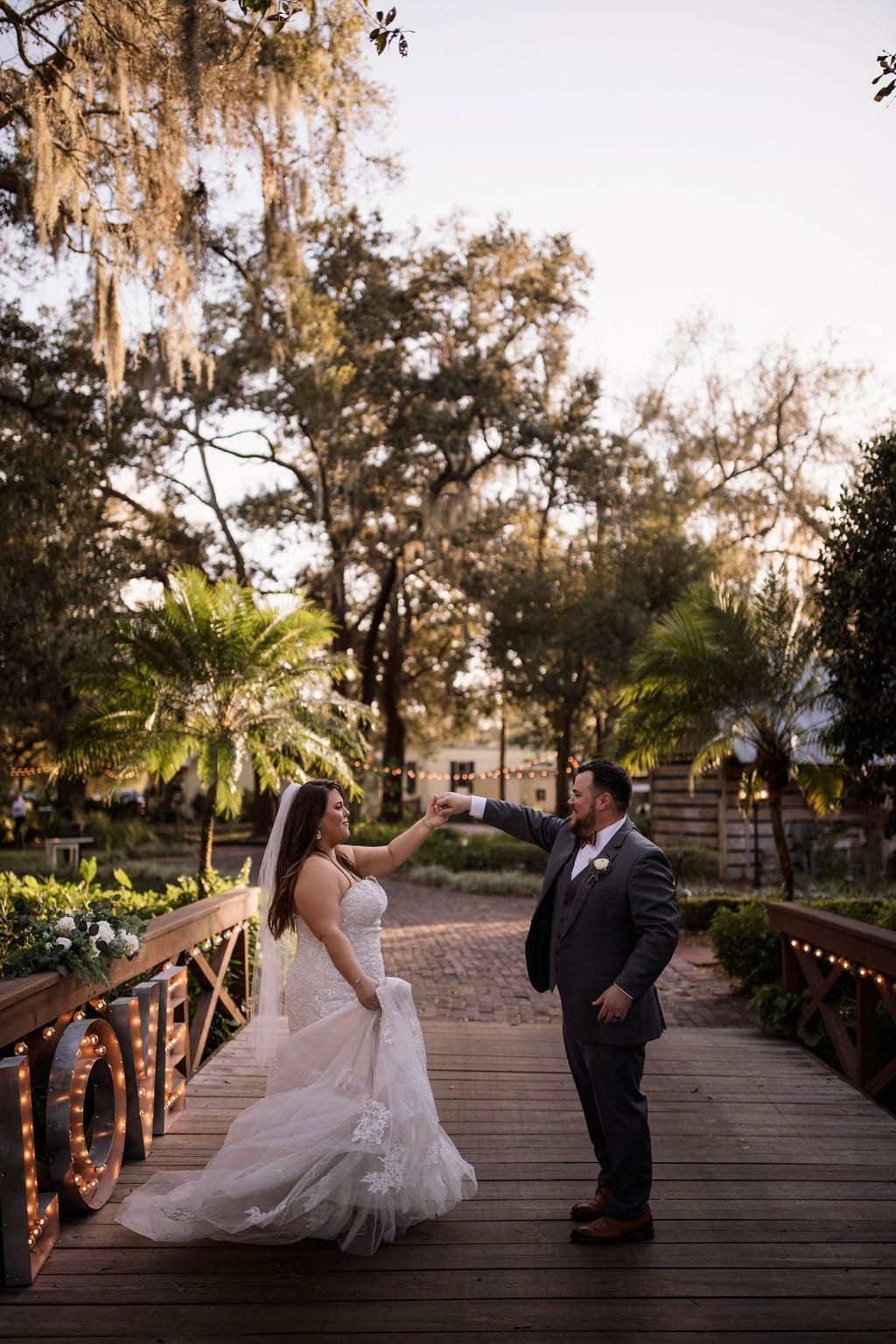 Taryn + Zach's Charcoal and Gold Winter Wedding