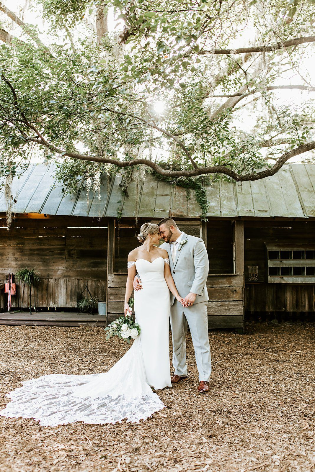 Ashley + Sal's Dreamy Rustic Peach Wedding