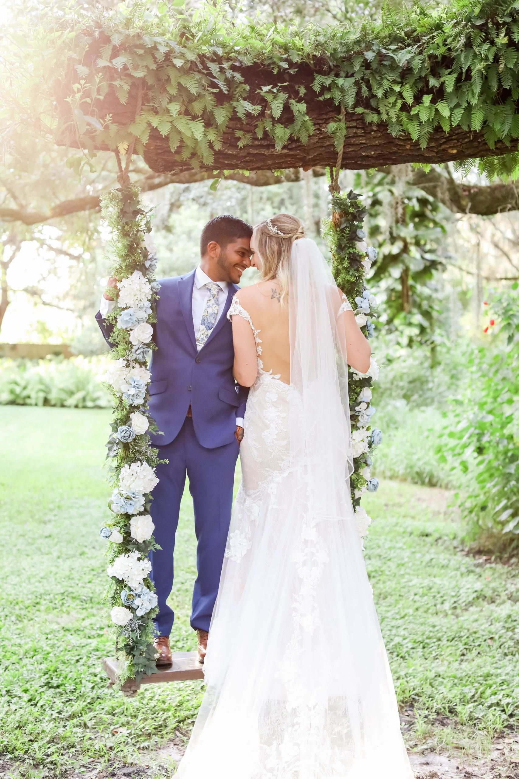 Ellie + Raj's Romantic Garden-Inspired Wedding